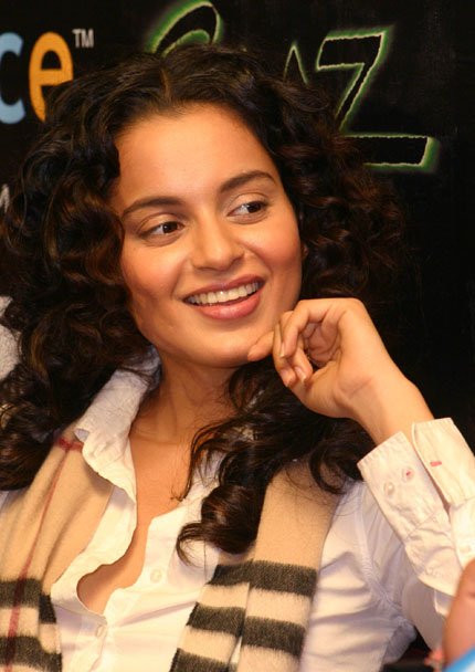 Bollywood Actress Kangana Ranaut at a press-meet for the Film ''Raaz'