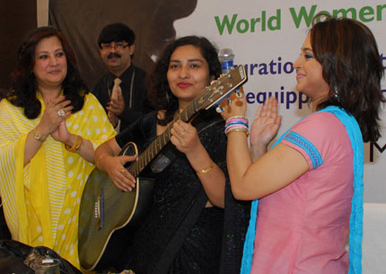 Film actors Moonmoon Sen, Churni Ganguly and singer Neepbithi Ghosh