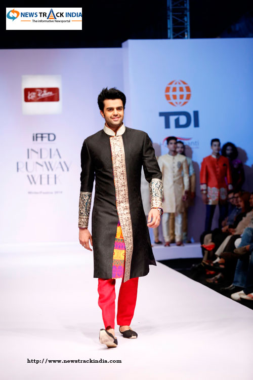 Actor Manish Paul in Collection by Kirti Rathore at India Runway Week 2014