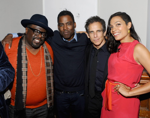 Actor Cedric the Entertainer, director_actor Chris Rock, actor Ben Stiller and actress Rosario Dawson