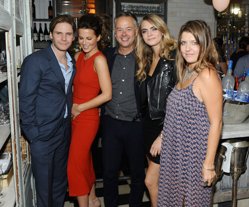 Actors Daniel Bruhl and Kate Beckinsale, director Michael Winterbottom, actress Cara Delevingne and co-producer Melissa Parmenter at 'The Face of an Angel' world premiere party hosted by GREY GOOSE vodka and Soho House Toronto