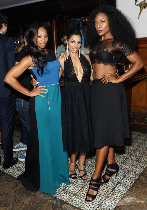 Actresses Tracy Moore, Karlie Redd and Jully Black