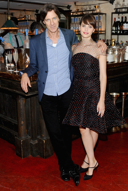 Director James Marsh (L) and actress Felicity Jones