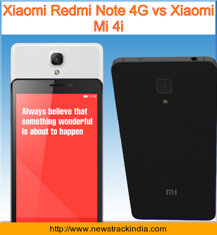 xiaomi redmi note 4g vs xiaomi mi 4i comparison of