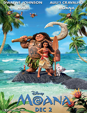 Animation New Feature Film Moana Releases In India On 2nd December 2016