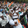 A long shot of Anna Hazare's supporters
