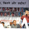 Former Law Minister Prashant Bhushan on the dias