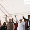 Anna Hazare arrives at Gandhi Maidan for Jantantra Rally