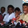 Chandrababu Naidu talks to media after a meeting with President of India