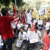 Gurgaon Maruti worker protest against UPA Government
