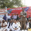 Shahnawaz Hussain address at a Hawkers Dharna