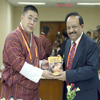 Dr. Harsh Vardhan presenting the book A Tale of Two Drops to Mr. Tandin Wangchuk