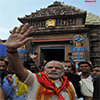 Prime Minister Modi at the Jagannath Temple