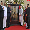 PM Modi unveiling the plaque to mark the inauguration