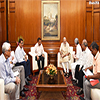 A Delegation of Doctors calling on the Prime Minister Modi