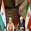 PM Modi and the President of Iran during the Joint Press Statement