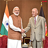 PM Modi meeting the President of Afghanistan