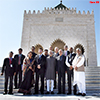 Indian Vice President at the Mausoleum of Mohammed V