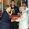 President of India presenting Dr. B.C. Roy National Award 2010 to Dr. Nikhil C. Munshi
