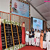 PM Modi unveiling the foundation stone of the AIIMS Gorakhpur