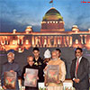 President of India releasing the Folio 'Select Paintings of Rashtrapati Bhavan'