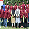 PM Modi in a group photograph with the Arjuna Awardees of 2016