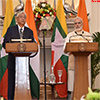 PM Narendra Modi and Mr. Htin Kyaw in joint media briefing