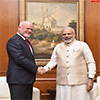 President Elect of the UNGA calls on the PM Modi