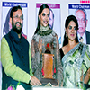 Prakash Javadekar presenting the Giants Award to Deepika Padukone for films field