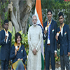 PM Modi with the medal winners of the Rio Paralympics-2016
