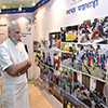 Narendra Modi watching the exhibition on 'Sanitation'