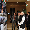 PM Modi and President of Afghanistan visit an exhibition at the Heart of Asia Ministerial Conference