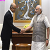 CEO of Microsoft calls on the Prime Minister Modi