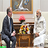 Martin Lundstedt calls on the Prime Minister Modi