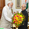 PM Narendra Modi calling on the President of India