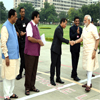 PM Modi embarks his journey from Gandhinagar to Kevadia where he will dedicate Sardar Sarovar Dam