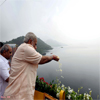 PM Narendra Modi at the Sardar Sarovar Dam