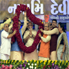 PM Modi being welcomed in public meeting, at Dabhoi