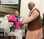 Haryana CM Manohar Lal congratulate former Deputy PM Lal Krishna Advani on his 92nd birthday
